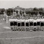 Bugården: Foto av byens storhet innenfor fotball, Sandefjord Ballklubb på stadion i 1947. Foto er utlånt av Dag Østby Pedersen.